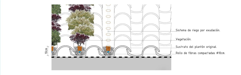 Sistema de cubierta ajardinada sobre teja Viscum cubierta vegetal cubiertas vegetales techos verdes green roof