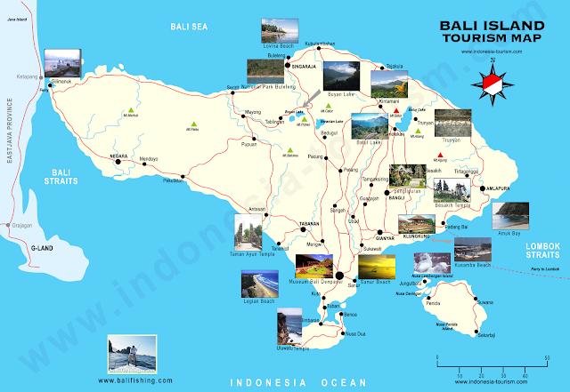 Daftar lengkap lokasi peta objek wisata bali bisa download