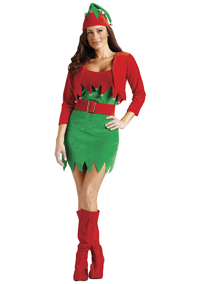 Elfalicious Sexy Elf Christmas Costume - Women's Size Medium/Large (10-14)