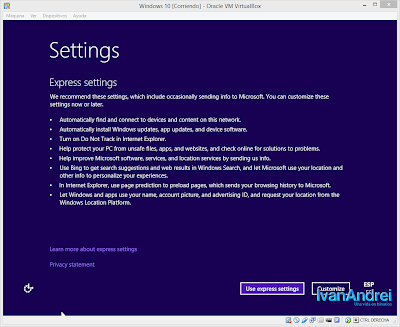Instalación de Windows 10 - VirtualBox - Instalación rápida