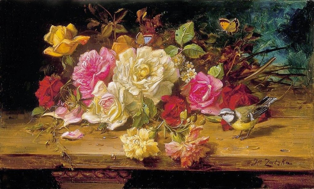 Still Life with Flowers, Bird and Butterfly