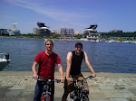 Jose and I went back out on our bikes after soundcheck too...I got a lot of sightseeing in today, beautiful area