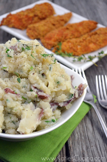 Olive Oil Mashed Potatoes and Cauliflower