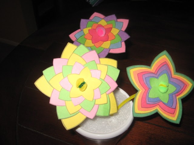 Every Cloud. . .: Construction Paper Flowers