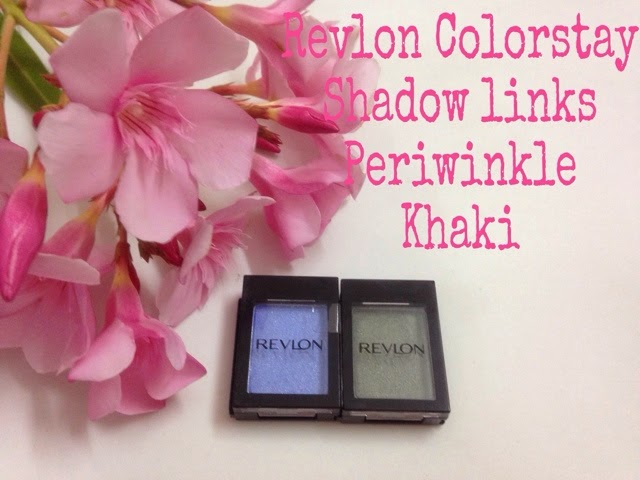 Revlon Colorstay Shadow Links in Periwinkle and Khaki