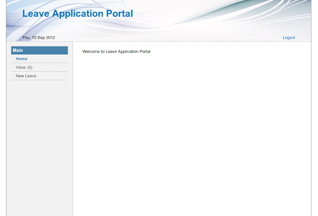 Leave Application Portal