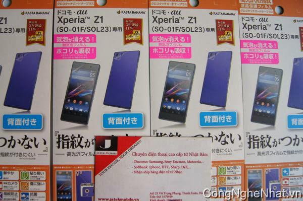 Rất nhiều phụ kiện cho Sony Xperia Z1 mới về từ Nhật