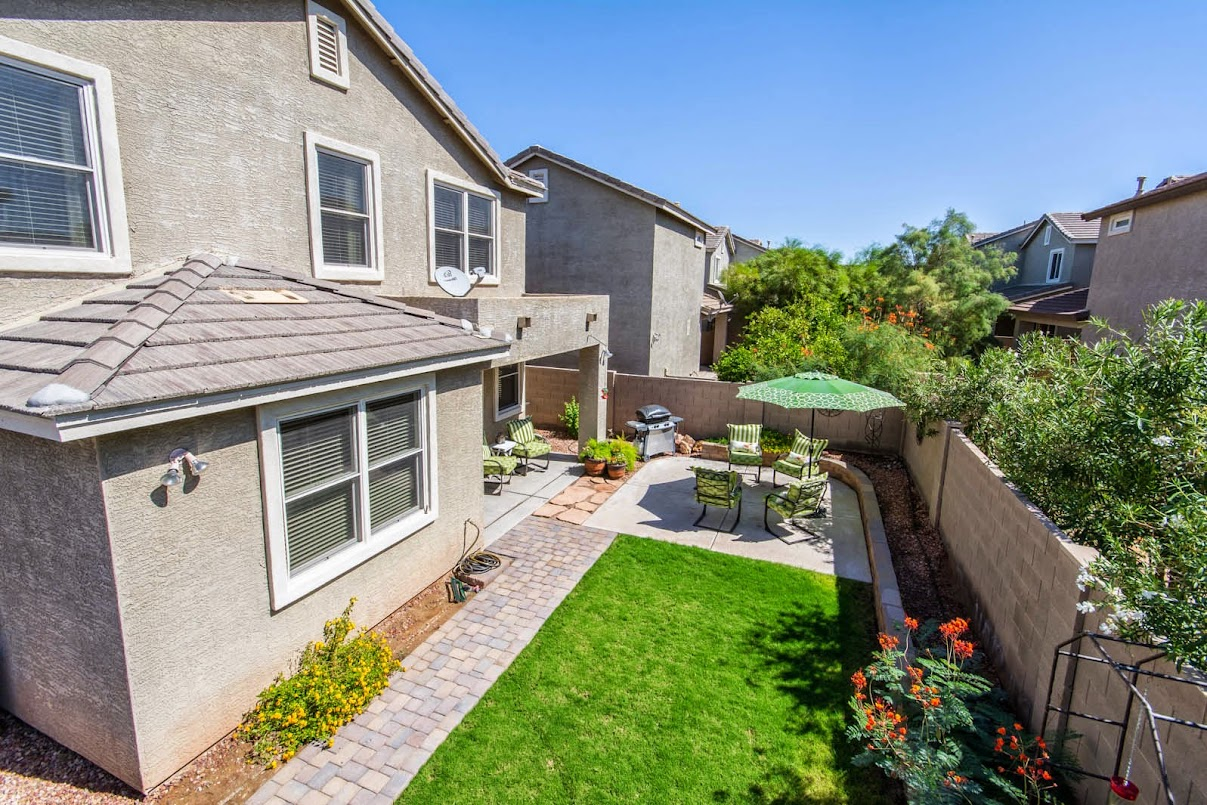 Phoenix Homes for Sale showcases this beautiful backyard