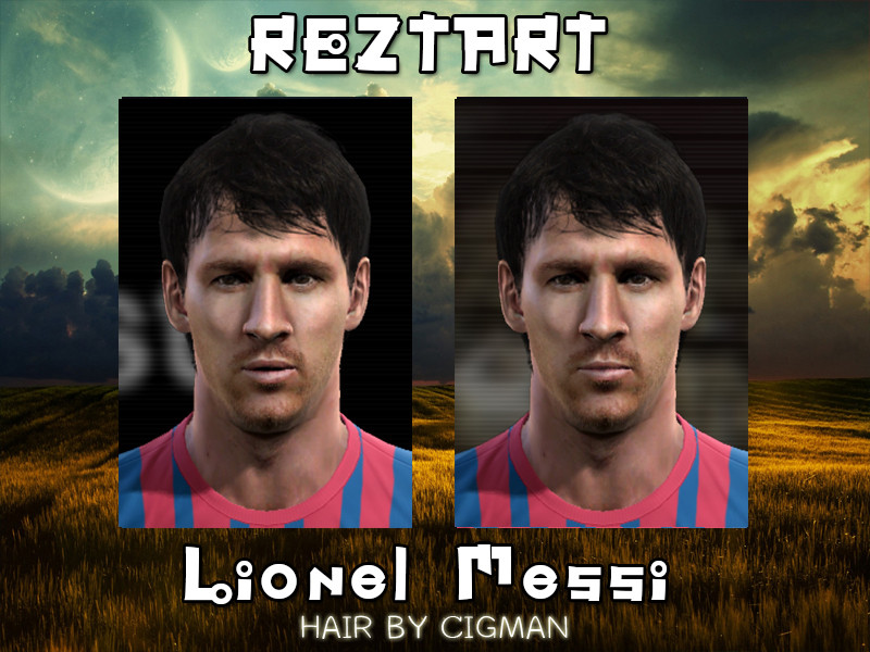 Lionel Messi Face - PES 2012
