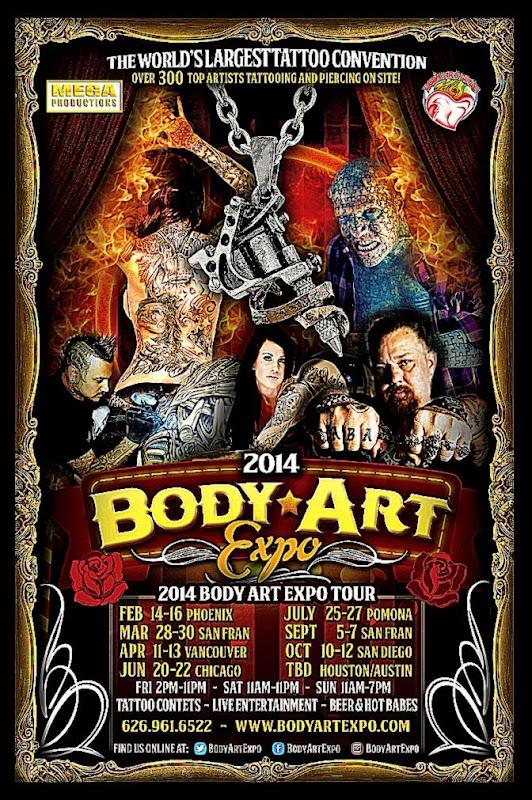 Body Art Expo Chicago Show   June 2014