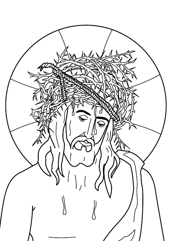 Jesus Christ Crown Of Thorns Coloring Pages