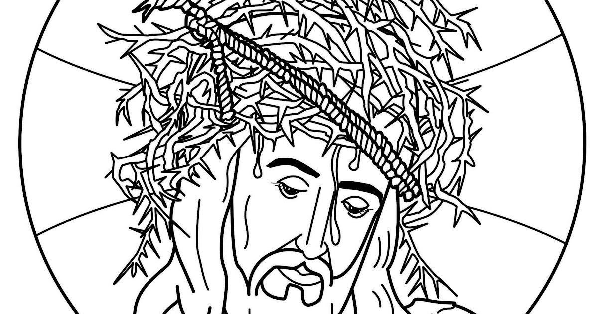 Jesus Christ crown of thorns coloring