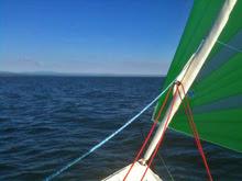 J/70 sailing on Lake Champlain, Vermont