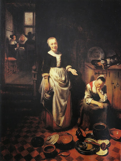 Nicolaes Maes - The Idle Servant