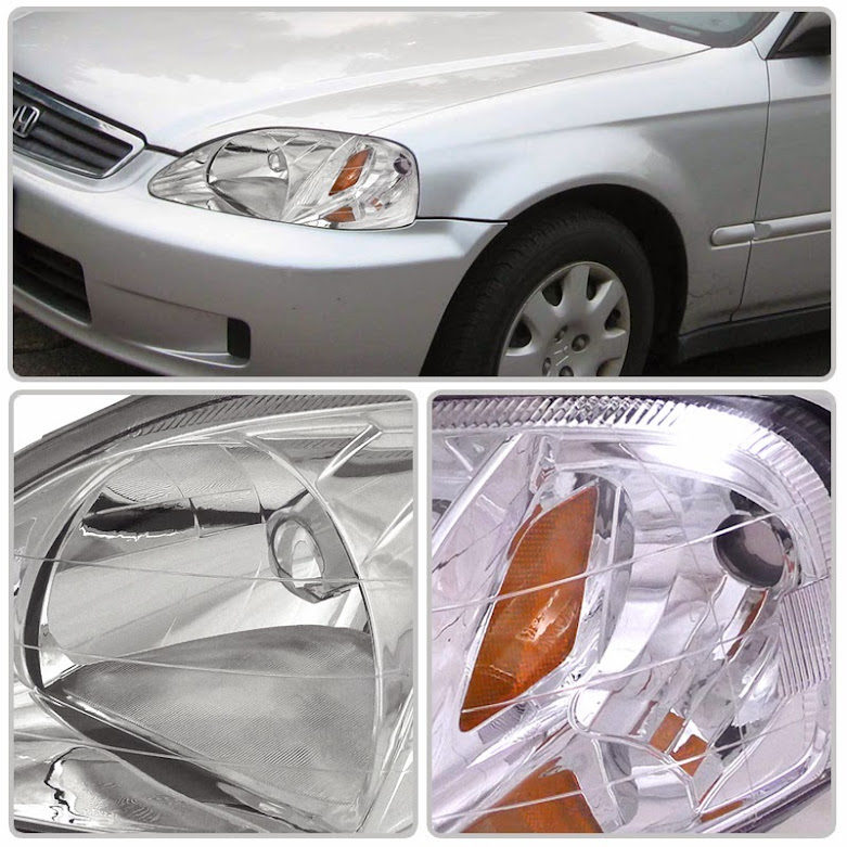 Honda Civic Projector Headlights 99 00 7 Different housings are available, including black, chrome, and others.