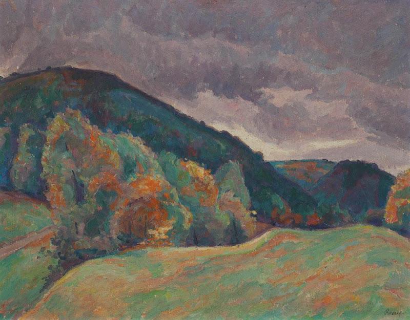 Camil Ressu - Peisaj din Dealurile Grădiștei