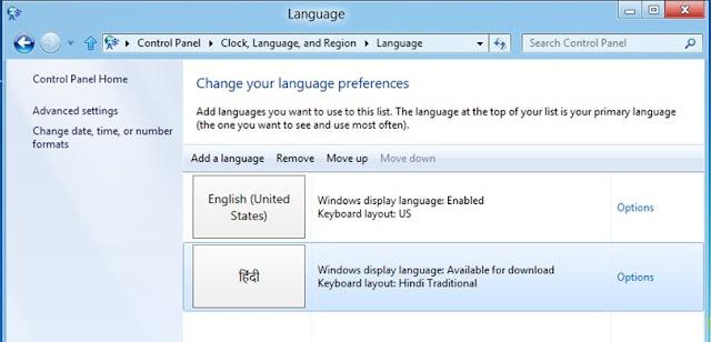 Windows 8 Language