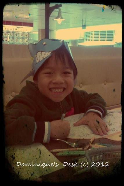 Shark hat boy