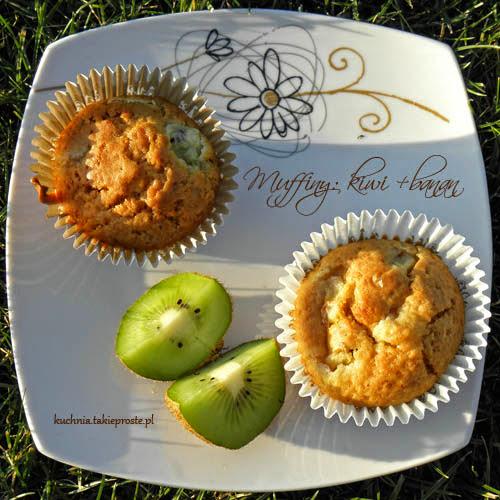Muffinki z kiwi i bananem