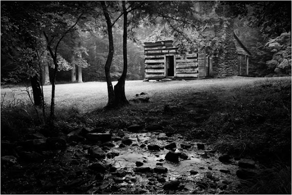 """""""Cabin in the Smokies"""" by Photographer Gary Morrison."""