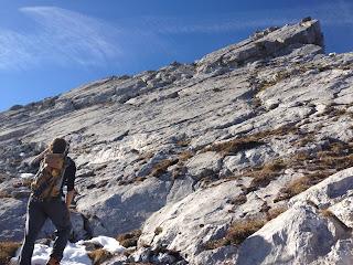 Der Schlussanstieg zur Arnplattenspitze - der Name ist Programm
