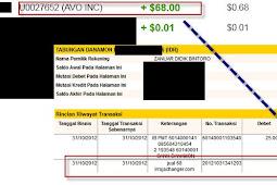Bukti Pembayaran Avo (Pembayaran Kelima)
