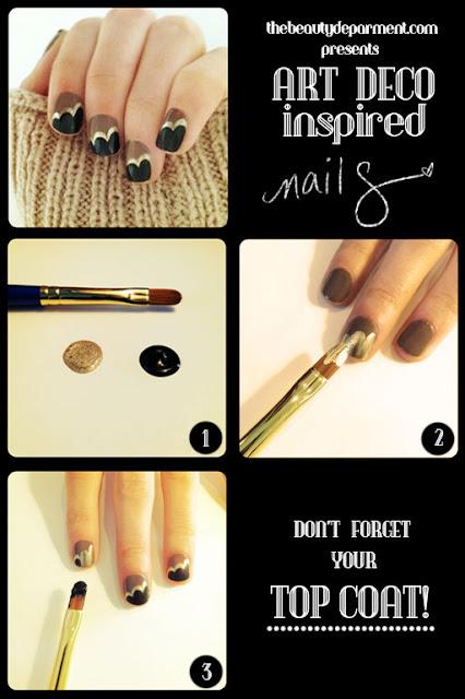 Glittery gold nail paint.
