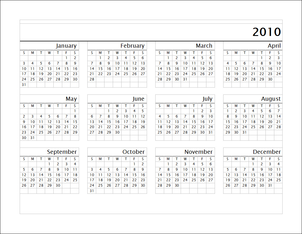 Have you laughed today ?: Calendare simple 2010