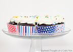 Printable Patriotic Cupcake wrappers
