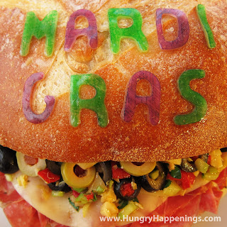 Everyone loves a good sandwich no matter the occasion! Be festive this year and create a delicious Mardi Gras Muffuletta, but watch out... everyone will be dying to get a bite!