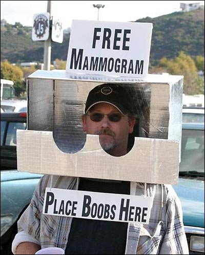 Mamografia grátis.