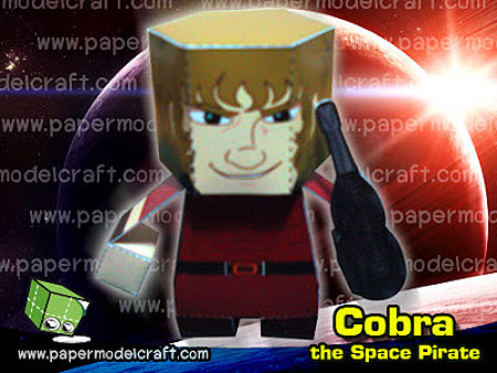 Cobra the Space Pirate Papercraft