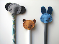 adornos para lápices/felt pencil toppers