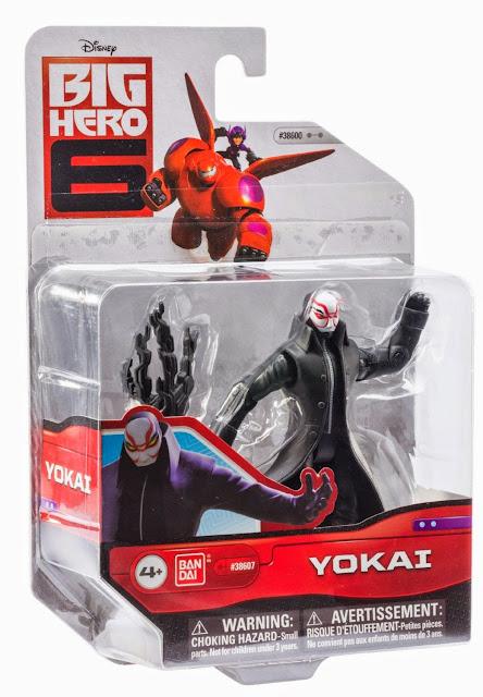 Đồ chơi Yokai Big Hero 6 loại 4'' được sản xuất bởi hãng Bandai Nhật Bản