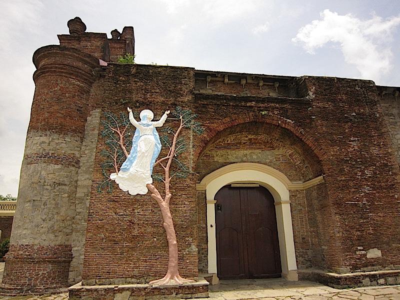 side entrance of the Church of Nuestra Señora de la Asuncion in Santa Maria, Ilocos Sur