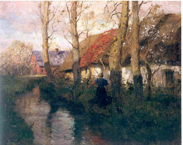 Frits Thaulow - Woman of Normandy