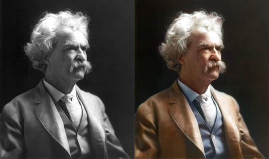 Марк Твен - Най-известните исторически черно-бели фотографии в цвят
