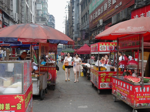 street food stalls in Hengyang, Hunan, China