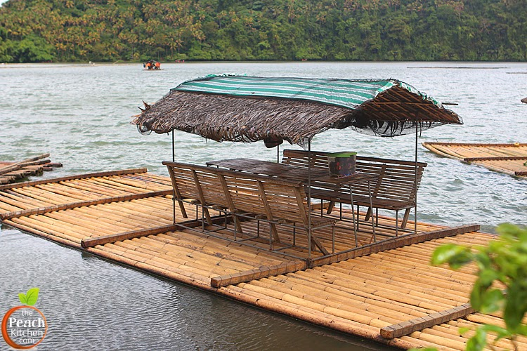 Lunch Aboard the Bamboo Raft at Pandin Lake