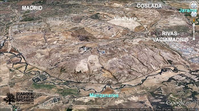 Interfluvio de los ríos Jarama y Manzanares, uno de los más importantes lugares de extracción de sílex en el Paleolítico.