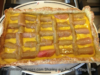 french village diaries rhubarb and custard tart recipe potager orchard