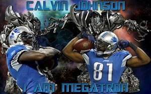 "Calvin Johnson ""I Am Megatron"" Detroit Lions Wallpaper"