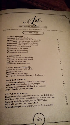 Multnomah Whiskey Library, the selections their first week for tastings