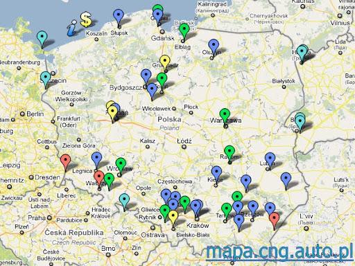 Cng Auto Pl Juz 250 000 Wyswietlen Mapy Stacji Cng W Polsce