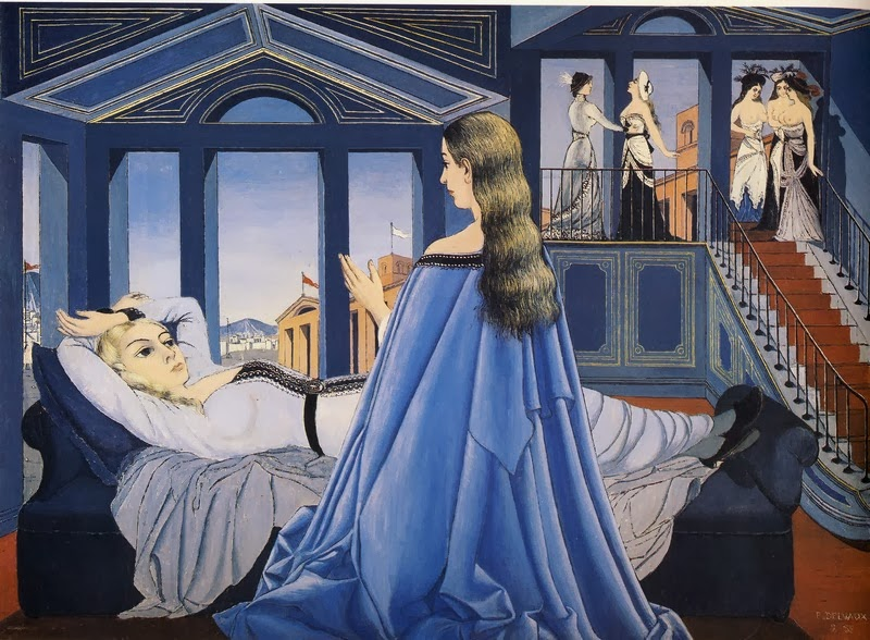 Paul Delvaux - The Annunciation, 1955