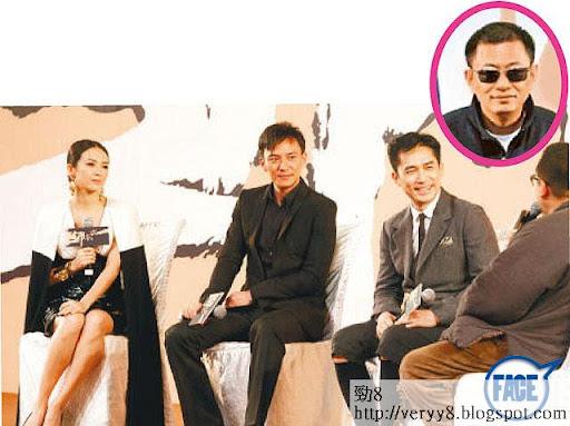 週日,王家衞同男女主角梁朝偉、章子怡同張震一齊出席北京試映會。王大導講笑話如果內地冇咁早上畫,可以再剪多 3個月。