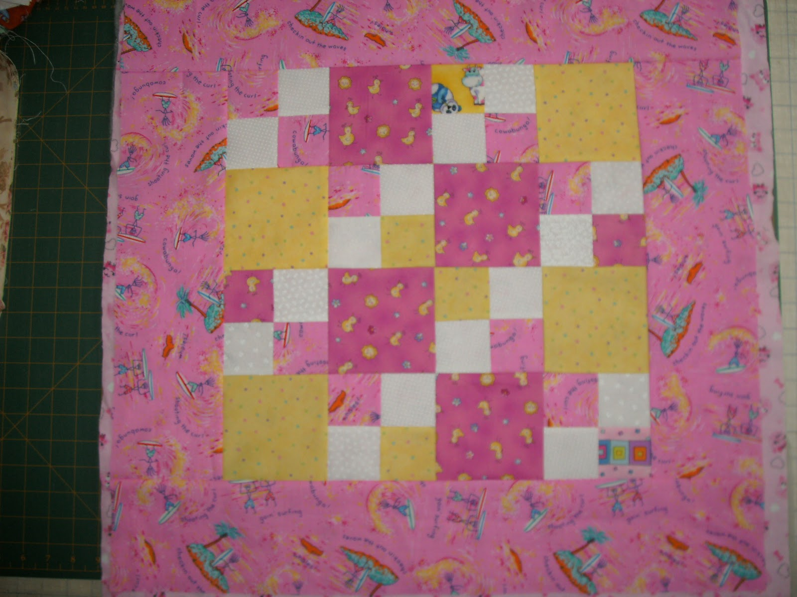 Sunshower Quilts Making Scrappy Preemie Quilt with the Accuquilt Go! # Sunshower Goes_064641