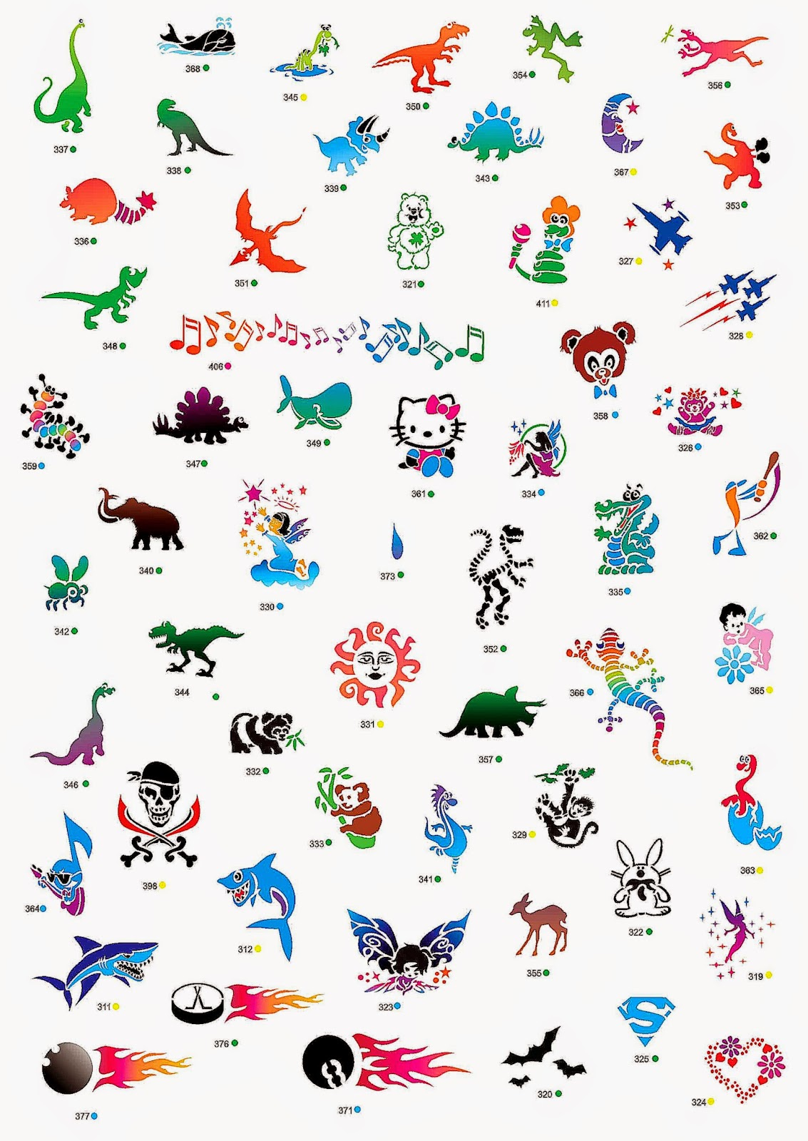 Temporary tattoos for kids  part 1  Image Gallery 264  Amazing
