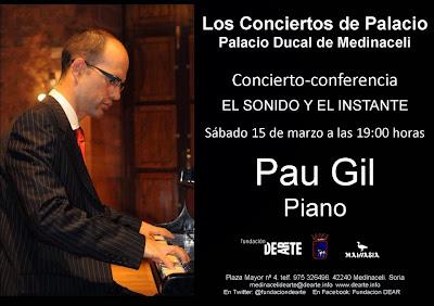 Día 15 de marzo a las 19.00h en los 'Conciertos de Palacio'. Palacio Ducal de Medinaceli