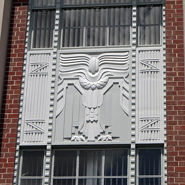 Reidsville, NC Art Deco door detail